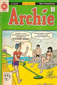 Cover Thumbnail for Archie (Editions Héritage, 1971 series) #121
