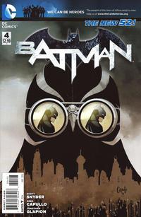 Cover Thumbnail for Batman (DC, 2011 series) #4 [Third Printing]