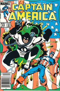 Cover Thumbnail for Captain America (Marvel, 1968 series) #312 [Newsstand Edition]