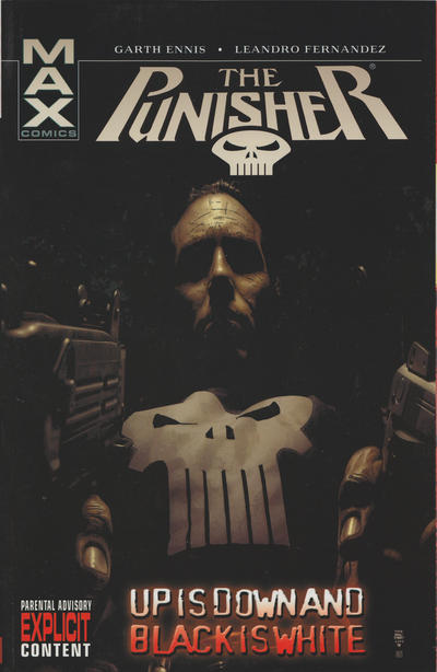 Cover for Punisher MAX (Marvel, 2004 series) #4 - Up is Down and Black is White