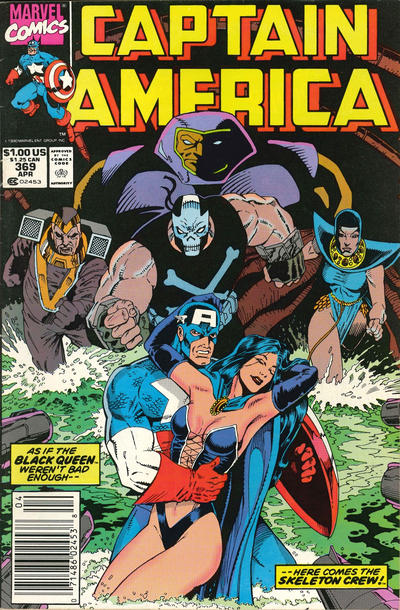 Cover for Captain America (Marvel, 1968 series) #369 [Direct]