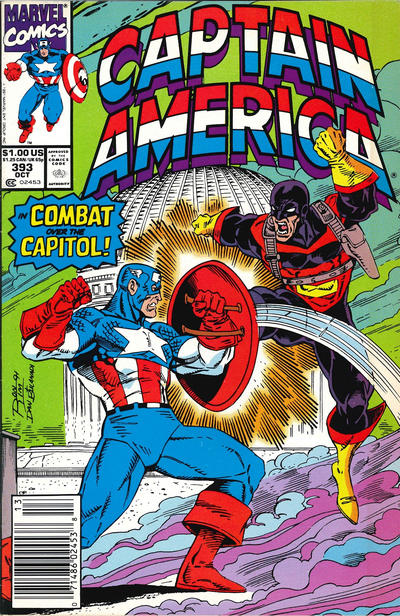 Cover for Captain America (Marvel, 1968 series) #393 [Newsstand Edition]