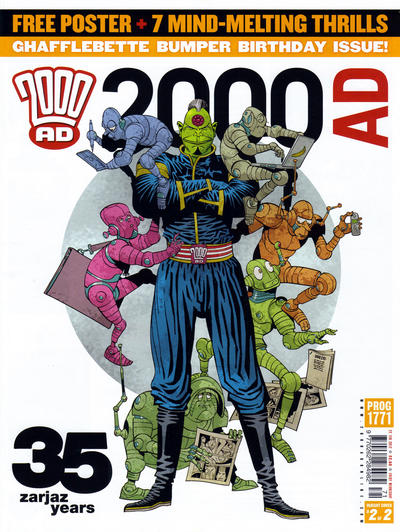 Cover for 2000 AD (Rebellion, 2001 series) #1771