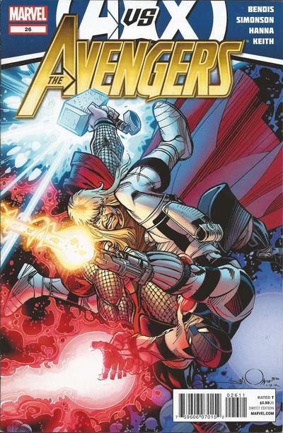 Cover for Avengers (Marvel, 2010 series) #26