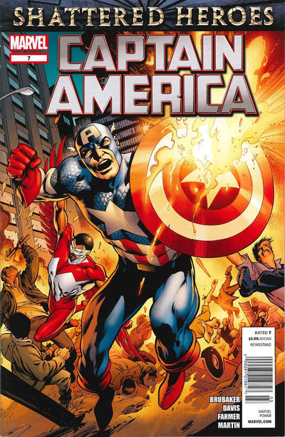 Cover for Captain America (Marvel, 2011 series) #7 [newsstand]