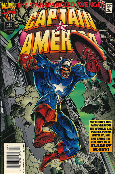 Cover for Captain America (Marvel, 1968 series) #438 [Direct Edition]