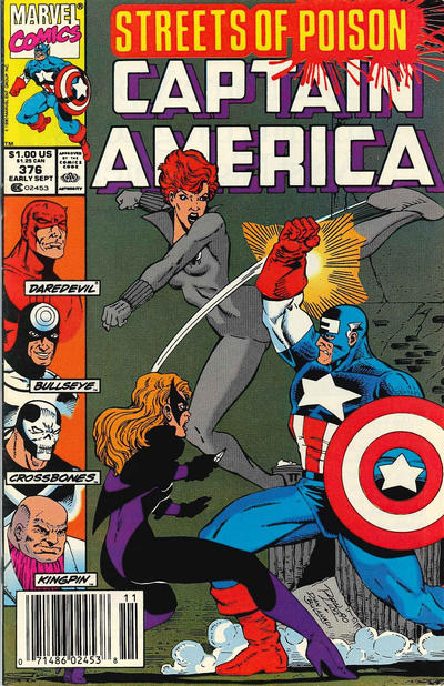 Cover for Captain America (Marvel, 1968 series) #376 [Direct Edition]