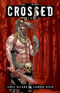 Cover Thumbnail for Crossed Badlands (Avatar Press, 2012 series) #5 [Incentive Red Crossed Cover - Jacen Burrows]