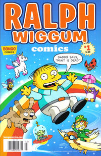"Cover Thumbnail for Simpsons One-Shot Wonders: Ralph Wiggum Comics (Bongo, 2012 series) #1 [newsstand ""print is dead""]"