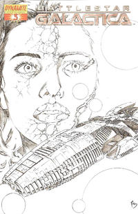 Cover Thumbnail for Battlestar Galactica (Dynamite Entertainment, 2006 series) #3 [Cover F - Black-and-White Sketch Cover]