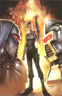 Cover Thumbnail for Battlestar Galactica (Dynamite Entertainment, 2006 series) #4 [Cover E -Virgin Art]