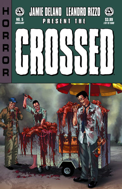 Cover for Crossed Badlands (Avatar Press, 2012 series) #5 [Incentive Red Crossed Cover - Jacen Burrows]
