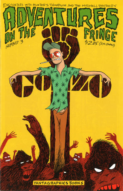 Cover for Adventures on the Fringe (Fantagraphics, 1992 series) #3