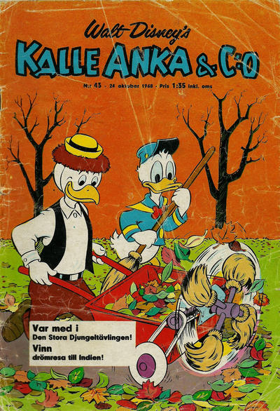 Cover for Kalle Anka & C:o (Hemmets Journal, 1957 series) #43/1968