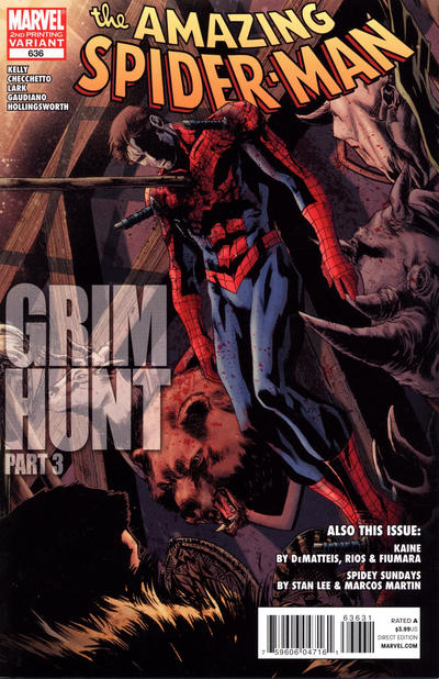 Cover for The Amazing Spider-Man (Marvel, 1999 series) #636