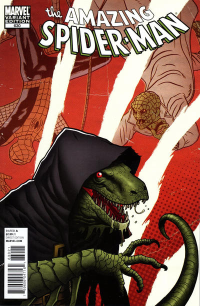 Cover for The Amazing Spider-Man (Marvel, 1999 series) #630 [Joe Quinones Villain Variant Cover]