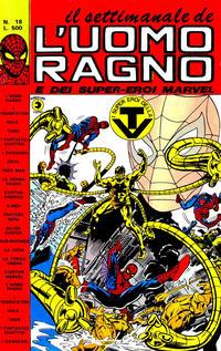 Cover Thumbnail for Il Settimanale de L'Uomo Ragno (Editoriale Corno, 1981 series) #18
