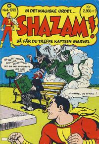Cover Thumbnail for Shazam! (Illustrerte Klassikere / Williams Forlag, 1974 series) #4/1975