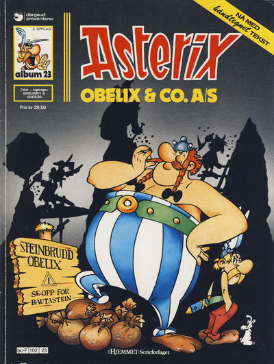 Cover for Asterix (Hjemmet / Egmont, 1969 series) #23 - Obelix & Co. A/S [3. opplag]