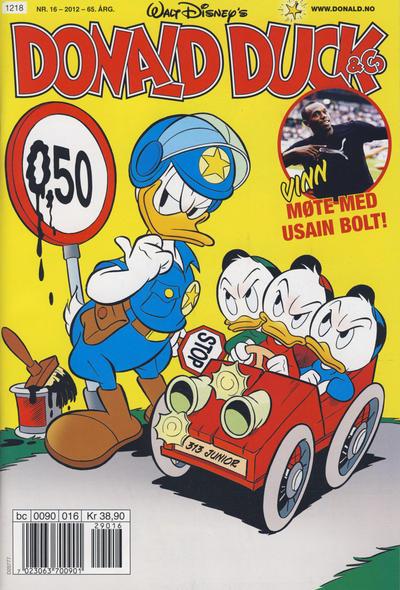Cover for Donald Duck & Co (Hjemmet / Egmont, 1948 series) #16/2012