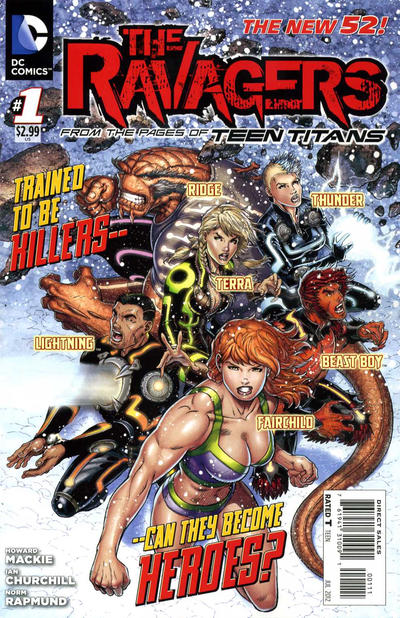 Cover for The Ravagers (DC, 2012 series) #1