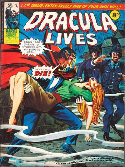 Cover for Dracula Lives (Marvel UK, 1974 series) #13