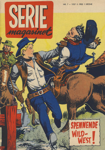 Cover for Seriemagasinet (Serieforlaget / Se-Bladene / Stabenfeldt, 1951 series) #7/1957