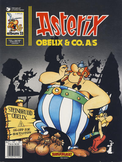 Cover for Asterix (Hjemmet / Egmont, 1969 series) #23 - Obelix & Co. A/S [1. opplag]
