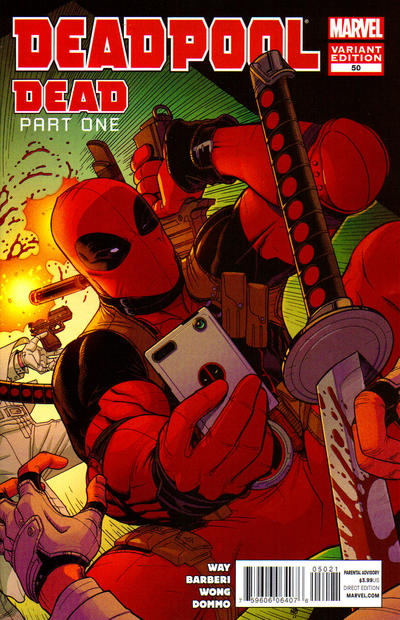 Cover for Deadpool (Marvel, 2008 series) #50 [Blank Variant]