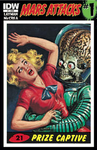 Cover for Mars Attacks (IDW, 2012 series) #1 [San Diego Comic-Con variant]
