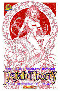 Cover Thumbnail for Dejah Thoris and the White Apes of Mars (Dynamite Entertainment, 2012 series) #3 [Dynamic Forces Brandon Peterson risqué red art variant]