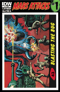 Cover Thumbnail for Mars Attacks (IDW, 2012 series) #1 [Card 43 variant]
