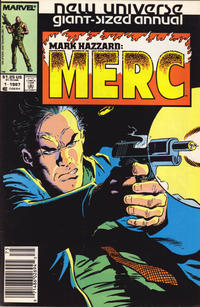 Cover Thumbnail for Mark Hazzard: Merc Annual (Marvel, 1987 series) #1 [Newsstand]