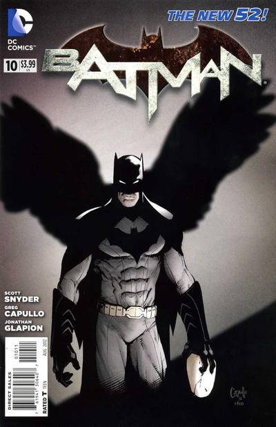 Cover for Batman (DC, 2011 series) #10 [Greg Capullo Black & White Cover]