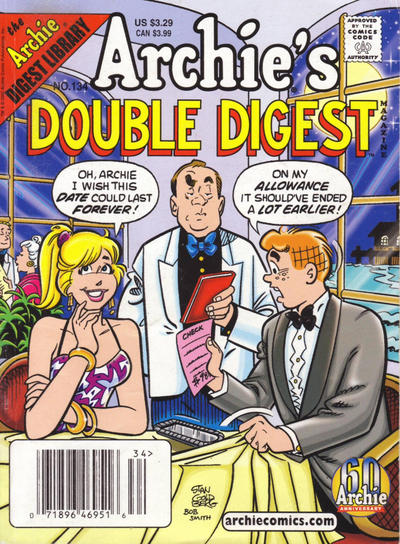 Cover for Archie's Double Digest Magazine (Archie, 1984 series) #134 [Direct Edition]