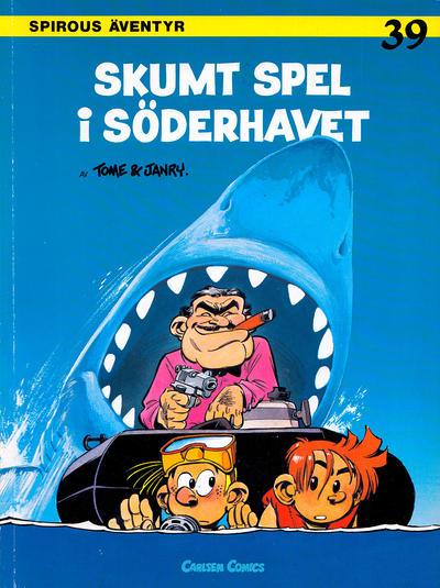 Cover for Spirous äventyr (Carlsen/if [SE], 1974 series) #39 - Skumt spel i Söderhavet