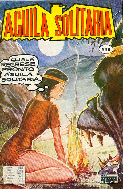 Cover for Aguila Solitaria (Editora Cinco, 1976 ? series) #569