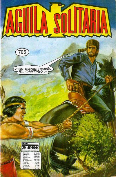 Cover for Aguila Solitaria (Editora Cinco, 1976 ? series) #705