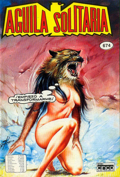 Cover for Aguila Solitaria (Editora Cinco, 1976 ? series) #674
