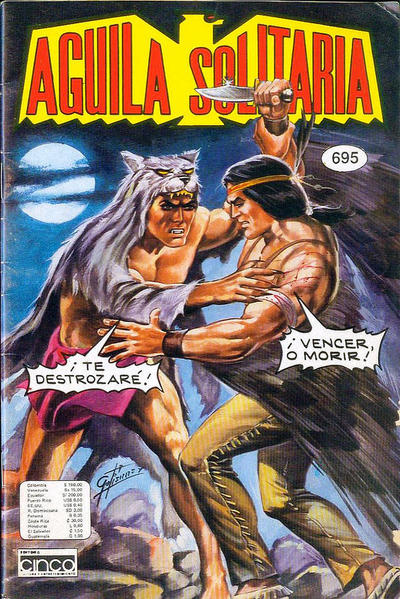 Cover for Aguila Solitaria (Editora Cinco, 1976 ? series) #695
