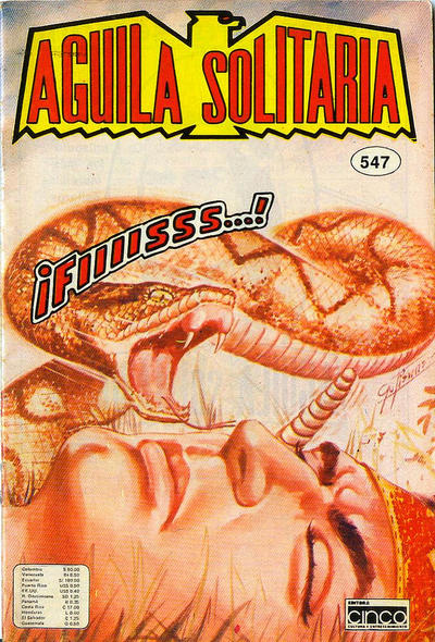 Cover for Aguila Solitaria (Editora Cinco, 1976 ? series) #547