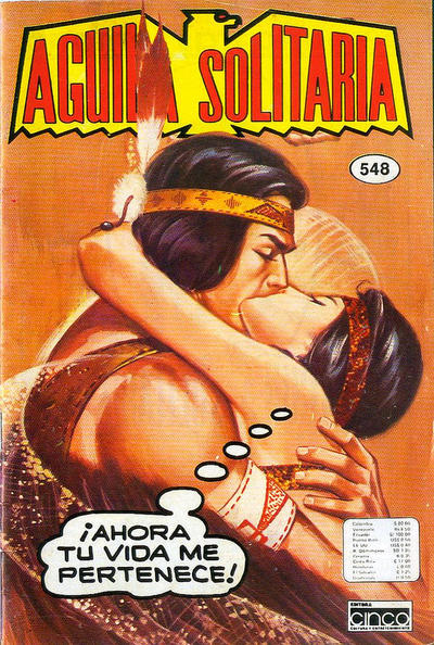 Cover for Aguila Solitaria (Editora Cinco, 1976 ? series) #548