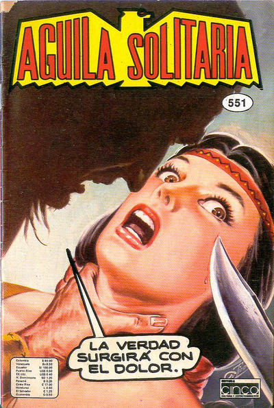 Cover for Aguila Solitaria (Editora Cinco, 1976 ? series) #551