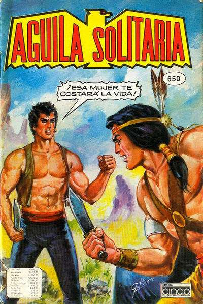 Cover for Aguila Solitaria (Editora Cinco, 1976 ? series) #650