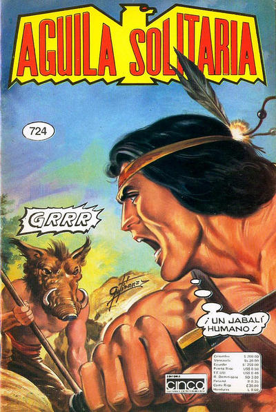 Cover for Aguila Solitaria (Editora Cinco, 1976 ? series) #724