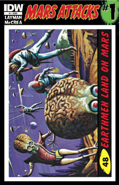 Cover for Mars Attacks (IDW, 2012 series) #1 [Card 45 variant]