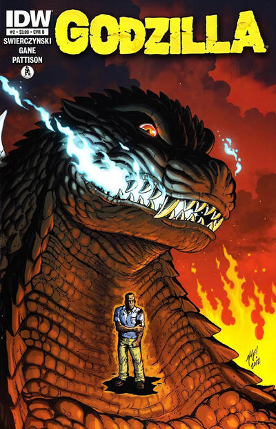 Cover for Godzilla (IDW, 2012 series) #2 [Cover A - Zach Howard]