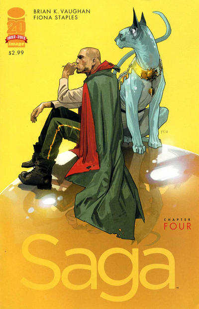 Cover for Saga (Image, 2012 series) #4 [Second Printing]