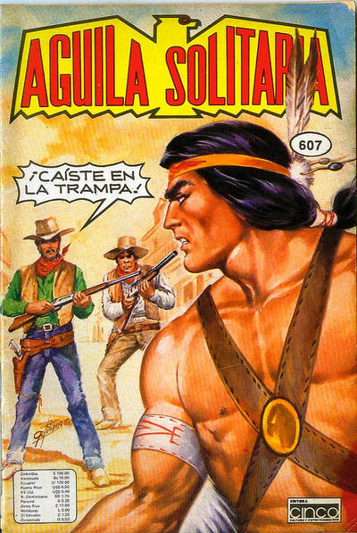 Cover for Aguila Solitaria (Editora Cinco, 1976 ? series) #607