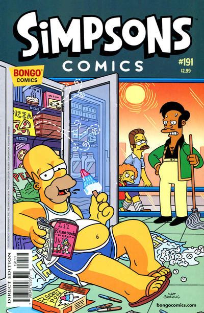 Cover for Simpsons Comics (Bongo, 1993 series) #191